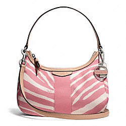 COACH SIGNATURE STRIPE ZEBRA PRINT DEMI CROSSBODY - ONE COLOR - F27386