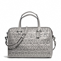 COACH TAYLOR EYELET LEATHER SATCHEL - SILVER/GREY - F27392