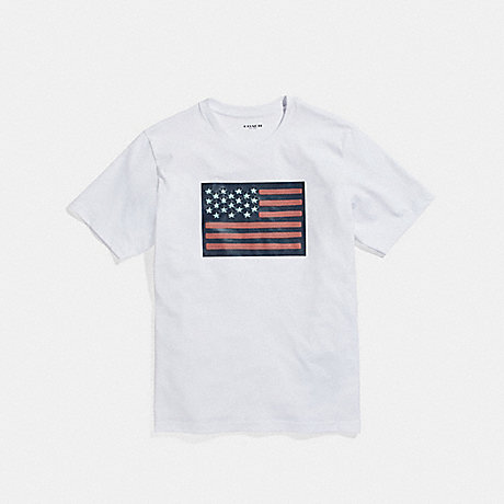 COACH FLAG T-SHIRT - WHITE - f27446