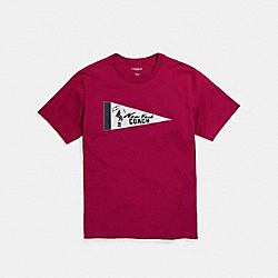 COACH PENNANT T-SHIRT - RED - F27448
