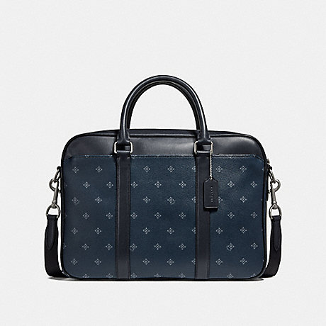 COACH PERRY SLIM BRIEF WITH FOUR DIAMOND FOULARD PRINT - NINI9 - f27456