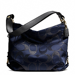SIGNATURE METALLIC DUFFLE - BRASS/MIDNIGHT - COACH F27461