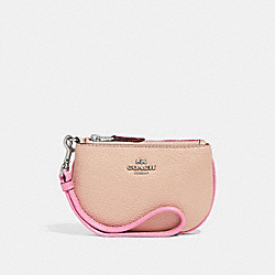 COIN CASE IN COLORBLOCK - SILVER/PINK MULTI - COACH F27479