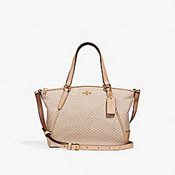 MINI KELSEY SATCHEL - MILK/BEECHWOOD/LIGHT GOLD - COACH F27574