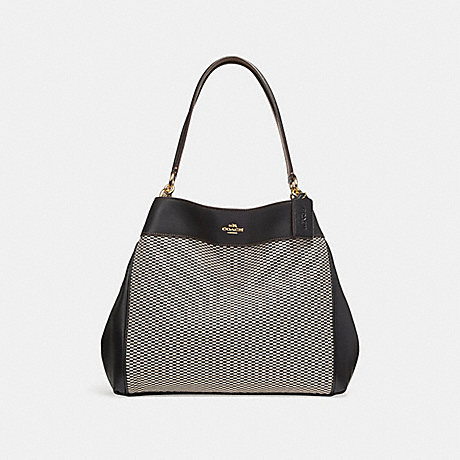 COACH LEXY SHOULDER BAG - MILK/BLACK/LIGHT GOLD - f27575