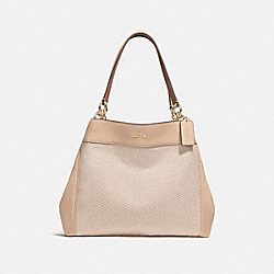 LEXY SHOULDER BAG - MILK/BEECHWOOD/LIGHT GOLD - COACH F27575