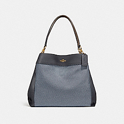 LEXY SHOULDER BAG - BLUE/MULTI/LIGHT GOLD - COACH F27575