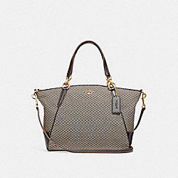 SMALL KELSEY SATCHEL - MILK/BLACK/LIGHT GOLD - COACH F27576