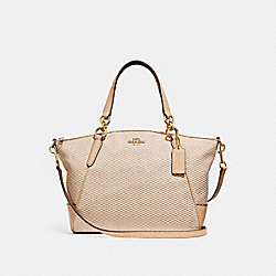 SMALL KELSEY SATCHEL - MILK/BEECHWOOD/LIGHT GOLD - COACH F27576
