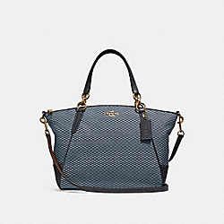 SMALL KELSEY SATCHEL WITH LEGACY PRINT - BLUE/MULTI/LIGHT GOLD - COACH F27576