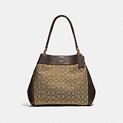 LEXY SHOULDER BAG IN SIGNATURE JACQUARD - KHAKI/BROWN/LIGHT GOLD - COACH F27579