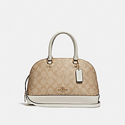 COACH MINI SIERRA SATCHEL IN SIGNATURE CANVAS - LIGHT KHAKI/CHALK/IMITATION GOLD - F27583