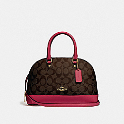 COACH MINI SIERRA SATCHEL IN SIGNATURE CANVAS - IMNM4 - F27583