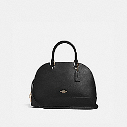 COACH SIERRA SATCHEL - BLACK/light gold - F27590