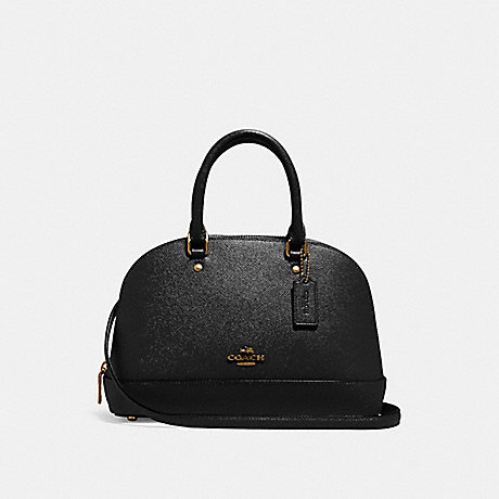COACH MINI SIERRA SATCHEL - BLACK/Light Gold - f27591