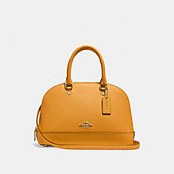MINI SIERRA SATCHEL - GOLDENROD/LIGHT GOLD - COACH F27591