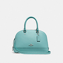 COACH MINI SIERRA SATCHEL - SILVER/AQUAMARINE - F27591