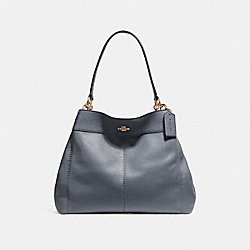 COACH LEXY SHOULDER BAG - MIDNIGHT/LIGHT GOLD - F27593