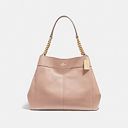 COACH LEXY CHAIN SHOULDER BAG - NUDE PINK/LIGHT GOLD - F27594