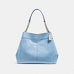 LEXY CHAIN SHOULDER BAG - SILVER/POOL - COACH F27594
