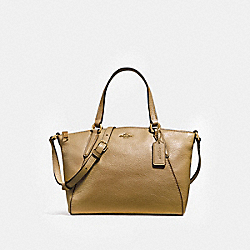 MINI KELSEY SATCHEL - LIGHT SADDLE/LIGHT GOLD - COACH F27596