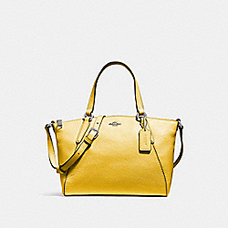 MINI KELSEY SATCHEL - CANARY 2/SILVER - COACH F27596