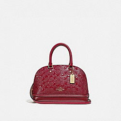 MINI SIERRA SATCHEL IN SIGNATURE LEATHER - CHERRY /LIGHT GOLD - COACH F27597