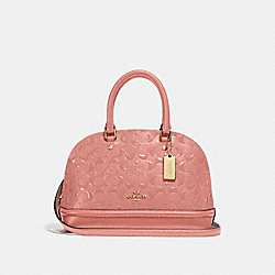 MINI SIERRA SATCHEL IN SIGNATURE LEATHER - MELON/LIGHT GOLD - COACH F27597