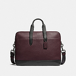 COACH HAMILTON DAY BRIEF - OXBLOOD/BLACK ANTIQUE NICKEL - F27617