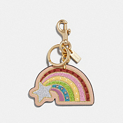 SHOOTING STAR BAG CHARM - f27651 - MULTI/GOLD
