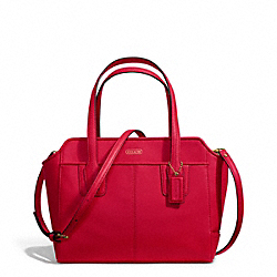 COACH TAYLOR LEATHER BETTE MINI TOTE CROSSBODY - BRASS/CORAL RED - F27661