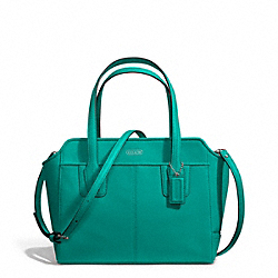 TAYLOR LEATHER BETTE MINI TOTE CROSSBODY - f27661 - SILVER/EMERALD