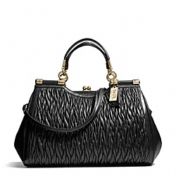 COACH MADISON GATHERED TWIST CARRIE - LIGHT GOLD/BLACK - F27681