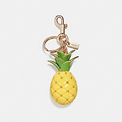 PINEAPPLE BAG CHARM - GOLD/YELLOW - COACH F27699