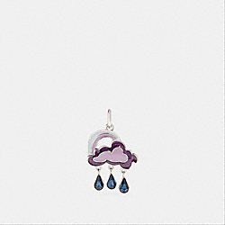 CLOUD AND RAINBOW CHARM - ICE PURPLE/SILVER - COACH F27751