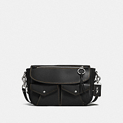 UTILITY BAG MESSENGER - BLACK/LIGHT ANTIQUE NICKEL - COACH F27758