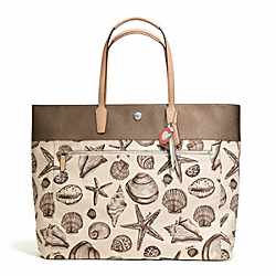 COACH RESORT SHELL PRINT SMALL TOTE - ONE COLOR - F27782