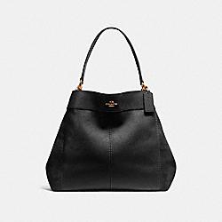 LARGE LEXY SHOULDER BAG - LIGHT GOLD/BLACK - COACH F27833