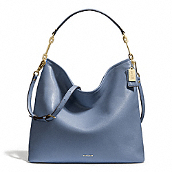 MADISON LEATHER HOBO - LIGHT GOLD/CORNFLOWER - COACH F27858