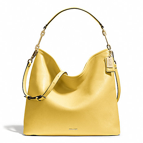 COACH MADISON LEATHER HOBO - LIGHT GOLD/PALE LEMON - f27858