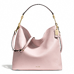 COACH MADISON LEATHER HOBO - LIGHT GOLD/NEUTRAL PINK - F27858