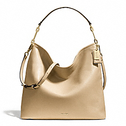 COACH MADISON LEATHER HOBO - LIGHT GOLD/TAN - F27858