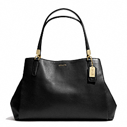 MADISON CAFE CARRYALL IN LEATHER - LIGHT GOLD/BLACK - COACH F27859