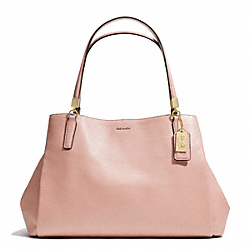 COACH MADISON LEATHER  CAFE CARRYALL - LIGHT GOLD/PEACH ROSE - F27859