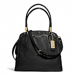 COACH MADISON LEATHER MINETTA CROSSBODY - LIGHT GOLD/BLACK - F27862