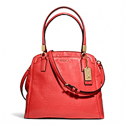 COACH MADISON LEATHER MINETTA CROSSBODY - LIGHT GOLD/LOVE RED - F27862