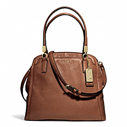 COACH MADISON LEATHER MINETTA CROSSBODY - LIGHT GOLD/CHESTNUT - F27862