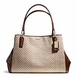 COACH MADISON OP ART NEEDLEPOINT CAFE CARRYALL - LIGHT GOLD/KHAKI/CHESTNUT - F27902