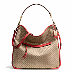 COACH MADISON NEEDLEPOINT OP ART HOBO - ONE COLOR - F27904