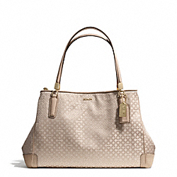 COACH MADISONOP ART PEARLESCENT CAFE CARRYALL - LIGHT GOLD/KHAKI - F27905